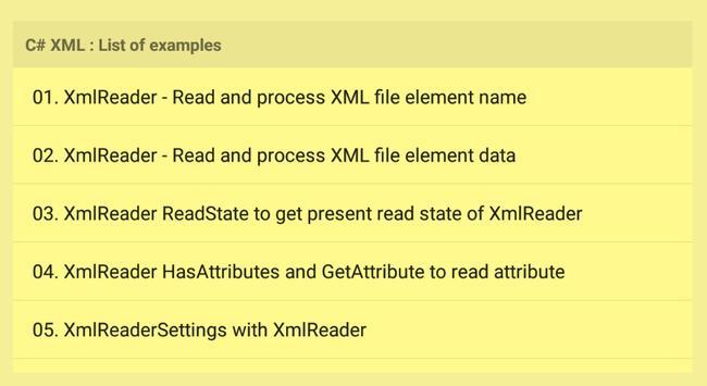 C# XML Examples screenshot 8