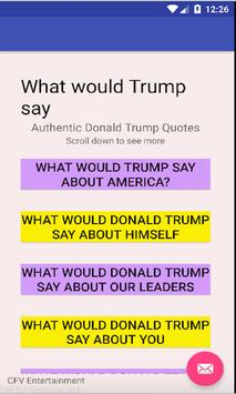 What Would Trump Say poster