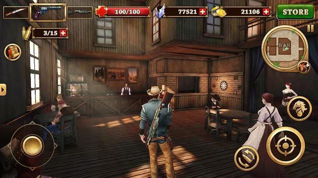 Canonnier Ouest - West Gunfighter capture d'écran 4