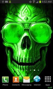 Green Fire Skull Live Wallpaper Apk Screenshot