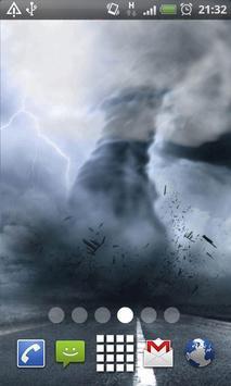 Tornado Storm Live Wallpaper Background Theme LWP poster