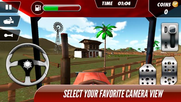 Tractor Trolley Real Farming Tractor 3D screenshot 7