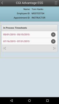 ESS Mobile Timesheet apk screenshot