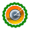 Indian Flag Clock Widget 图标
