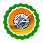 Indian Flag Clock Widget 圖標