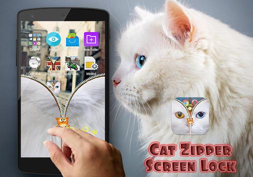 Cat Zipper Screen Lock Free screenshot 4