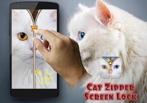 Cat Zipper Screen Lock Free screenshot 8