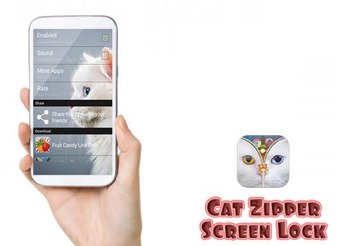 Cat Zipper Screen Lock Free screenshot 1