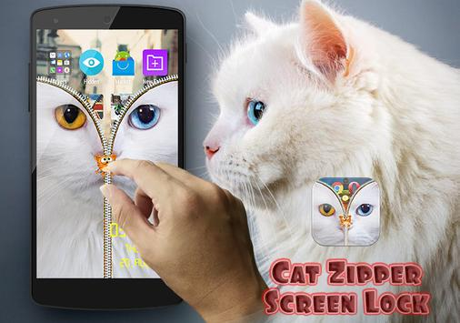 Cat Zipper Screen Lock Free screenshot 3
