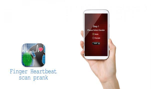 Finger Heartbeat scan prank apk screenshot
