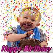BirthDay Photo Frames-Wishing App and Editor-free icon