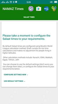 Salaat Times-Muslim prayer times location wise poster