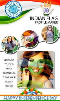 Indian Flag on Face Maker screenshot 1
