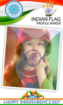 Indian Flag on Face Maker screenshot 7