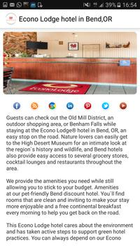 Econo Lodge hotel in Bend,OR apk screenshot