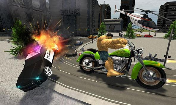 Incredible Monster Superhero Bike Battle screenshot 3
