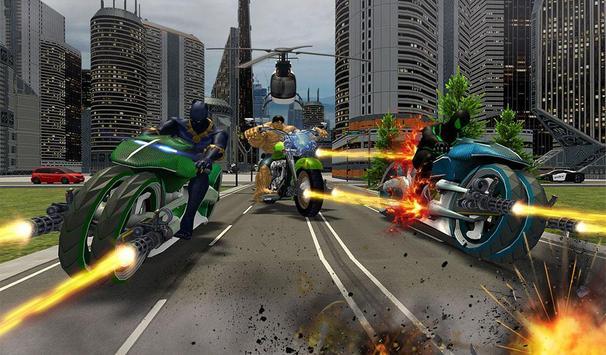 Incredible Monster Superhero Bike Battle screenshot 10