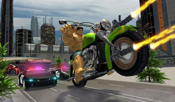 Incredible Monster Superhero Bike Battle screenshot 14