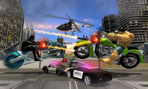 Incredible Monster Superhero Bike Battle screenshot 1