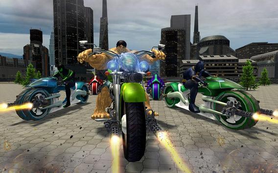 Incredible Monster Superhero Bike Battle screenshot 7