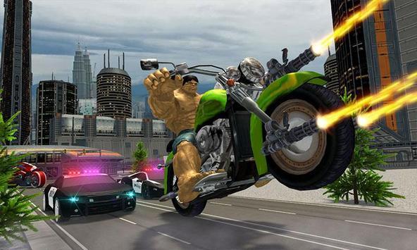 Incredible Monster Superhero Bike Battle screenshot 4