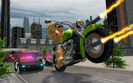 Incredible Monster Superhero Bike Battle screenshot 9