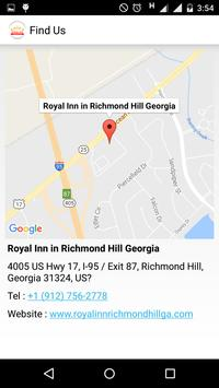 Royal Inn Richmond Hill GA apk screenshot