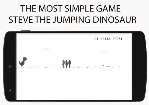 Steve Jumping Dinosaur poster