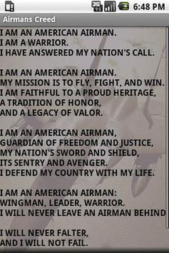 Airmans creed apk download free lifestyle app for android airmans creed poster thecheapjerseys Images
