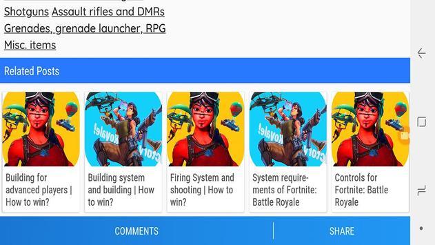 Best Fortnite: Battle Royale  Guides Games apk screenshot