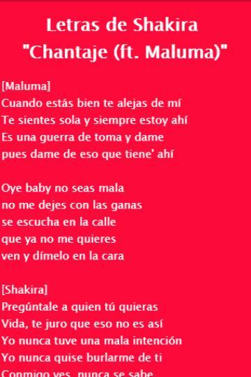 Shakira Chantaje Letramusica Para Android Apk Baixar