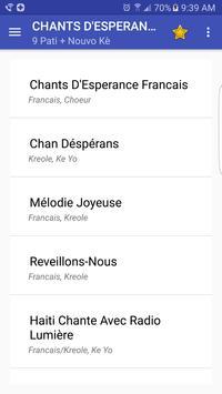 Chants D'Esperance poster