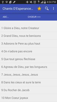 Chants D'Esperance apk screenshot