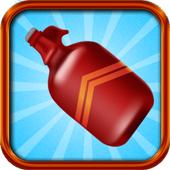 Flip bottle water ikona
