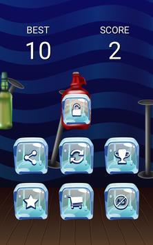 Flip bottle water plakat