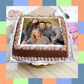 Birthday & Anniversary Cake Photo Frame With Name icon