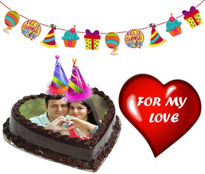 Birthday & Anniversary Cake Photo Frame With Name screenshot 1