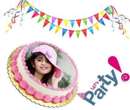 Birthday & Anniversary Cake Photo Frame With Name screenshot 2