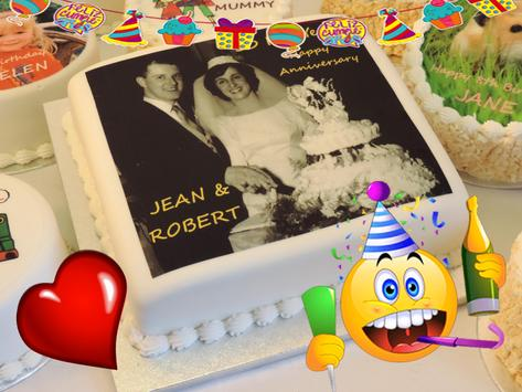Birthday & Anniversary Cake Photo Frame With Name screenshot 3