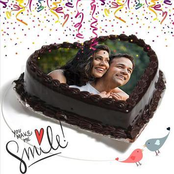 Birthday & Anniversary Cake Photo Frame With Name screenshot 4