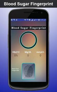Blood Sugar Fingerprint Prank apk screenshot