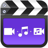 Replace sound-Mute video,Background song changer icon
