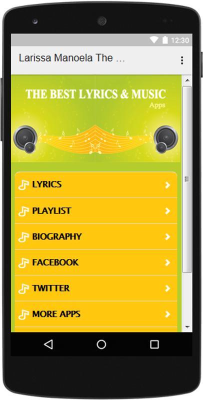 The Best Music   Lyrics Larissa Manoela for Android - APK Download b370425fc4