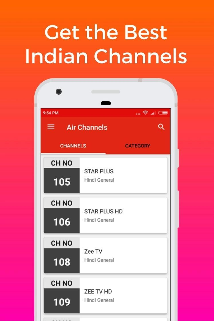 Channels List & online recharge for Dish Tv India for Android - APK