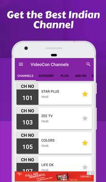Channel list for Videocon d2h & Videocon Recharge screenshot 1