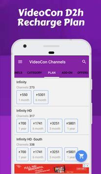 Channel list for Videocon d2h & Videocon Recharge screenshot 3