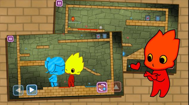 Redboy and icegirl in Light Temple Maze : game kid poster