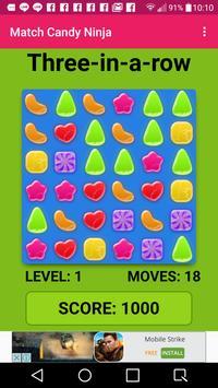 Match Candy Ninja screenshot 1