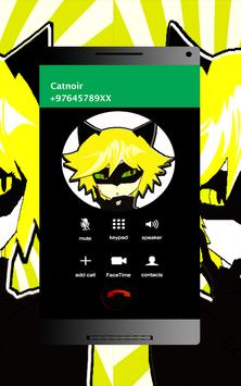 FAKE CALL Miraculus - Catnoir screenshot 1