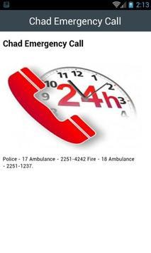Chad Emergency Call screenshot 1